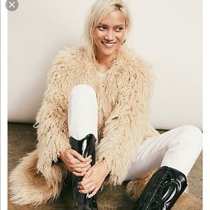 Free People Florence Shaggy Faux Fur Coat